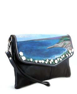 Hand painted bag - Ligurian Dream