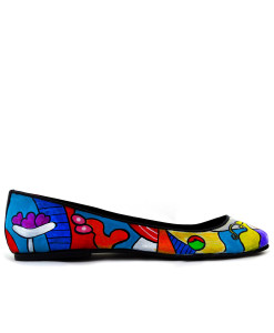 Hand-painted ballet flats - Nude with still life by Picasso