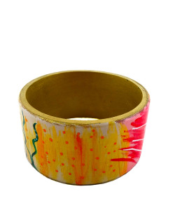 Hand-painted bangle - Enchanted garden