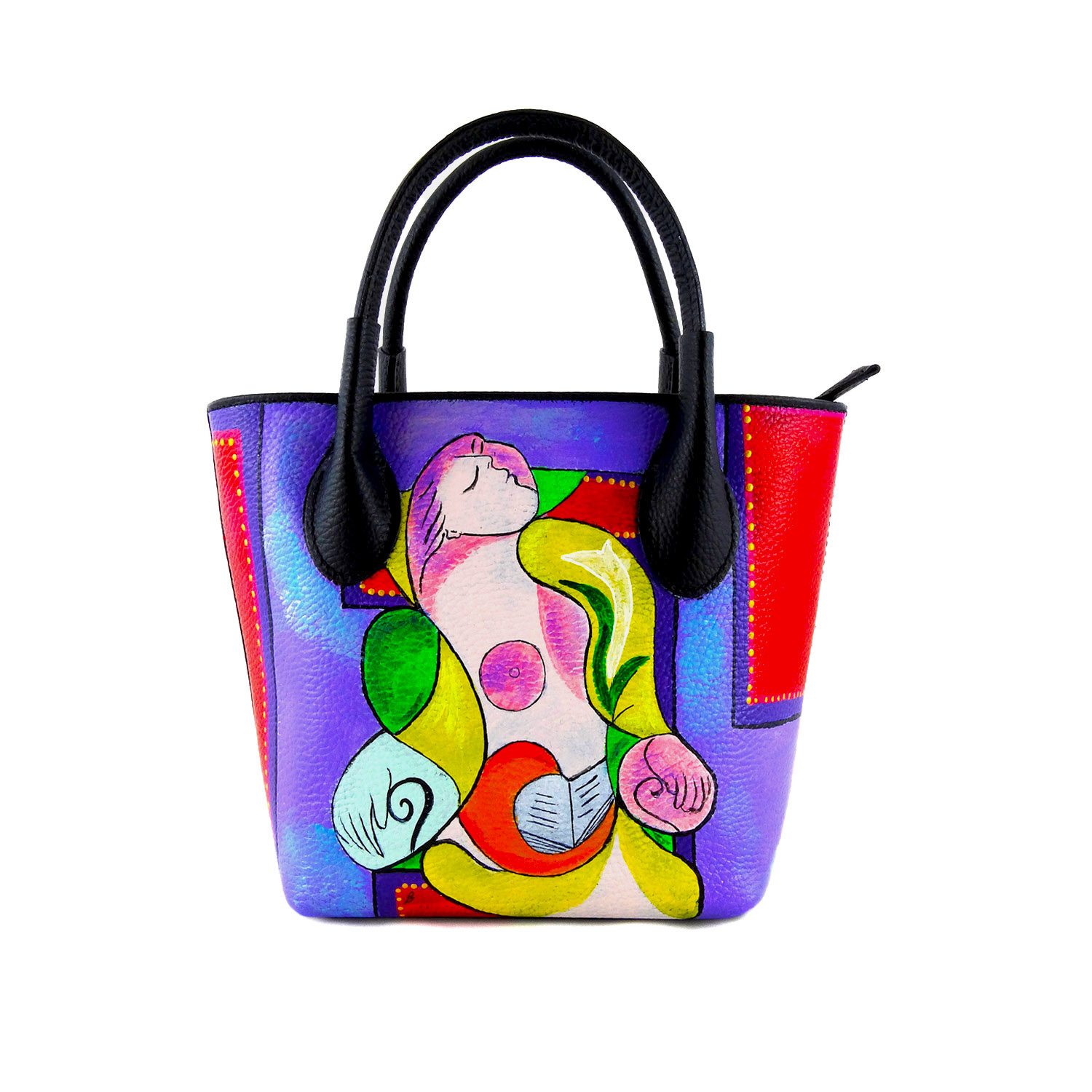 Hand-painted bag - Reading Marie Therese by Picasso