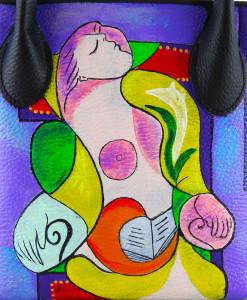 Borsa dipinta a mano – La lettura Marie Therese di Picasso