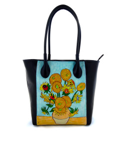 Hand painted bag - Sunflowers by Van Gogh