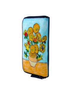 Portafoglio dipinto a mano – I girasoli di Van Gogh