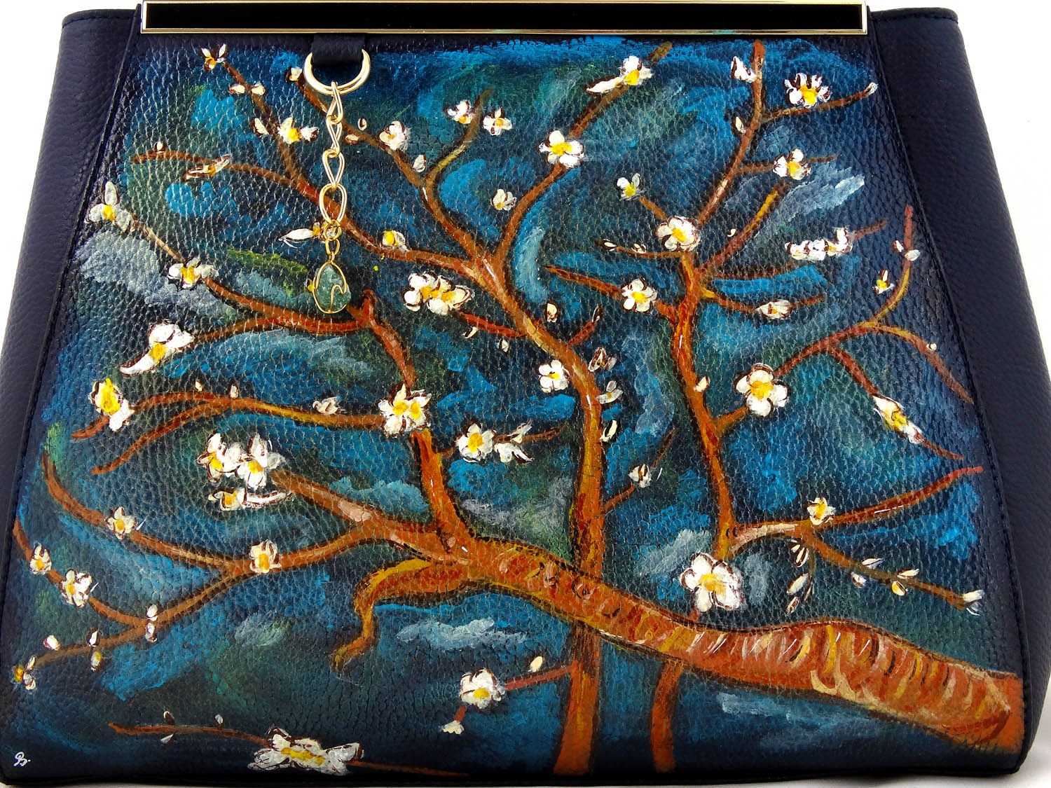 Hand painted bag - The almond by Van Gogh