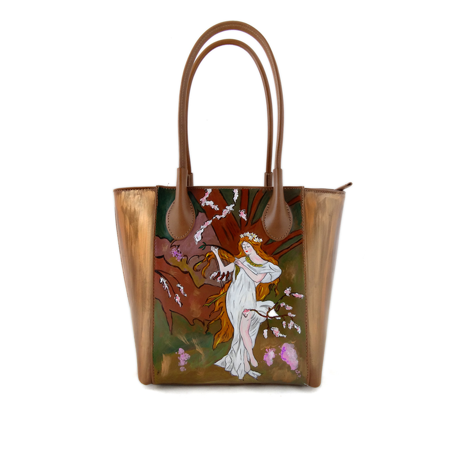 Hand painted bag - The Spring by Mucha