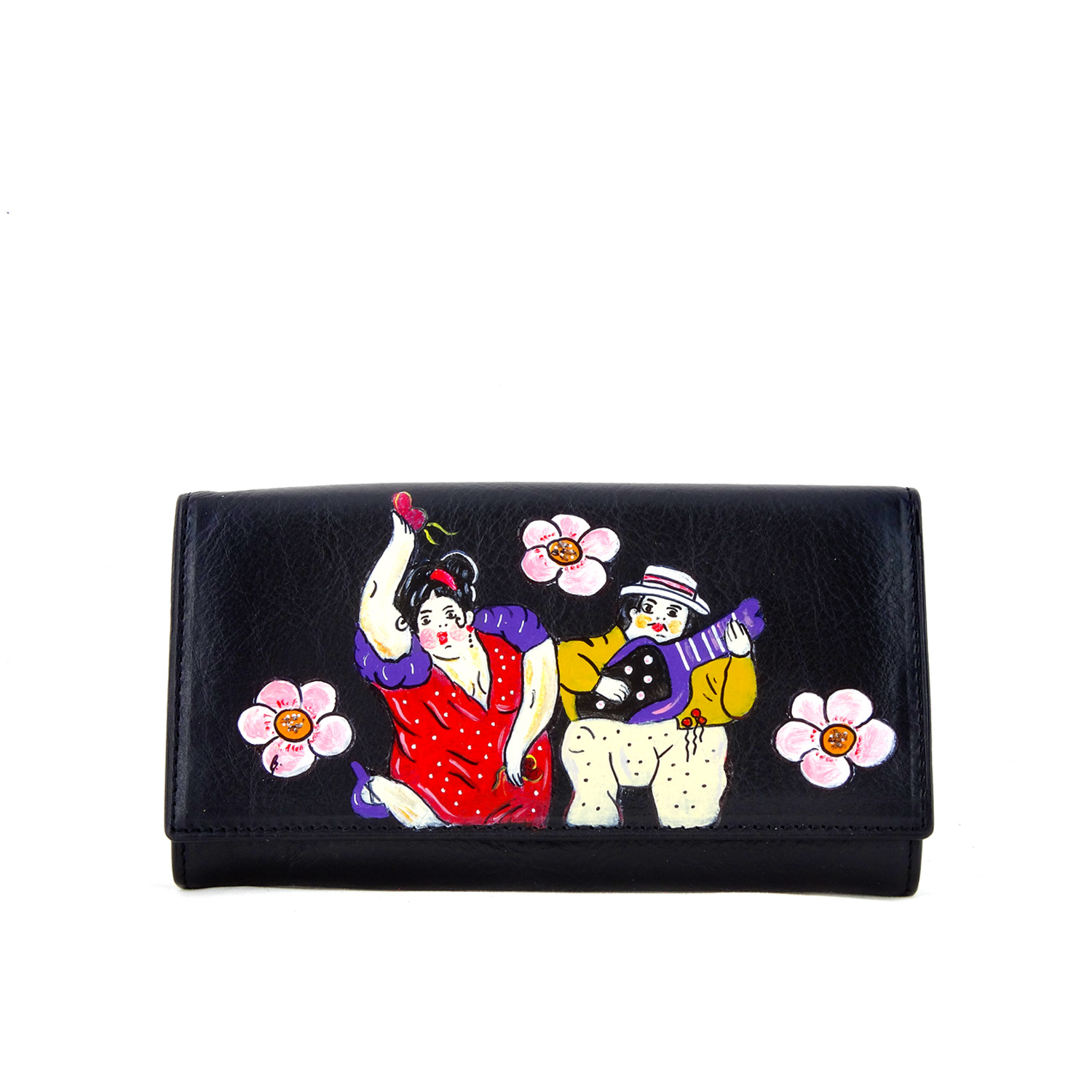 Hand painted wallet - The musicians by Botero