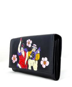 Portafoglio dipinto a mano – Omaggio ai musicanti di Botero