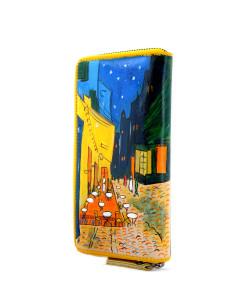 Portafoglio dipinto a mano – Caffè di notte di Van Gogh