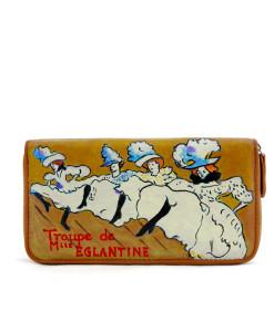 Portafoglio dipinto a mano – La Troupe de M.lle Eglantine