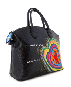 Hand painted bag - Love is all