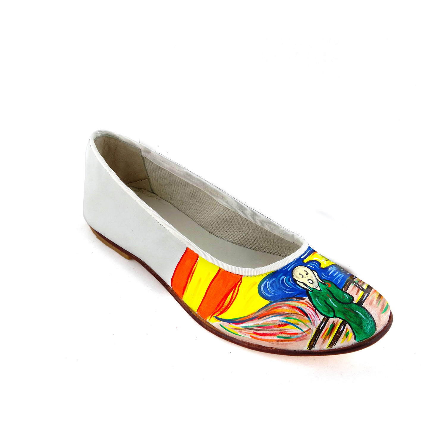Hand-painted ballet flats - The Scream by Munch