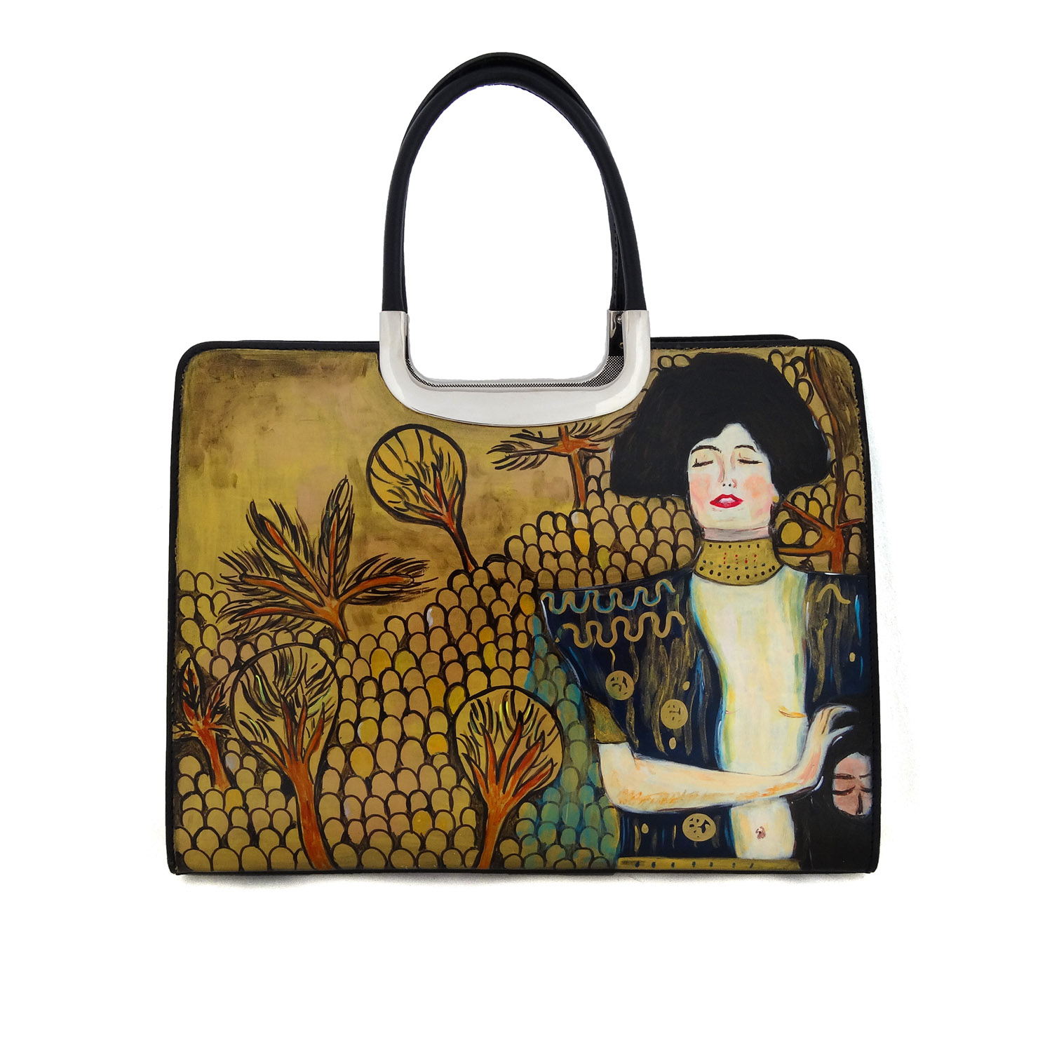 Hand painted bag - Judith by Klimt