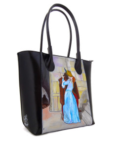 Handpainted bag - The Kiss by Hayez