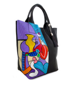 Hand painted bag - Nude with still life by Picasso