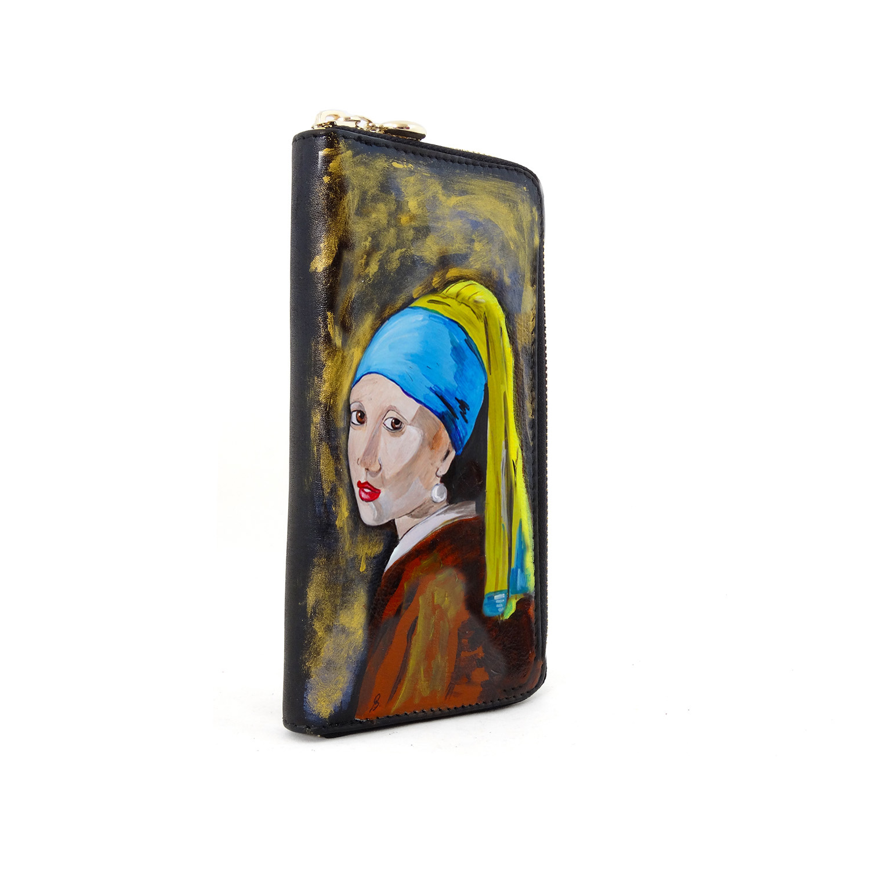 Portafoglio dipinto a mano – Ragazza con l'orecchino di perla di Vermeer