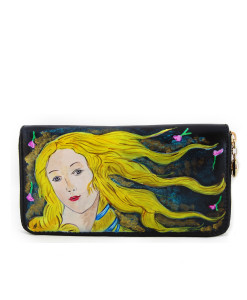 Handpainted wallet - The Birth of Venus by Botticelli