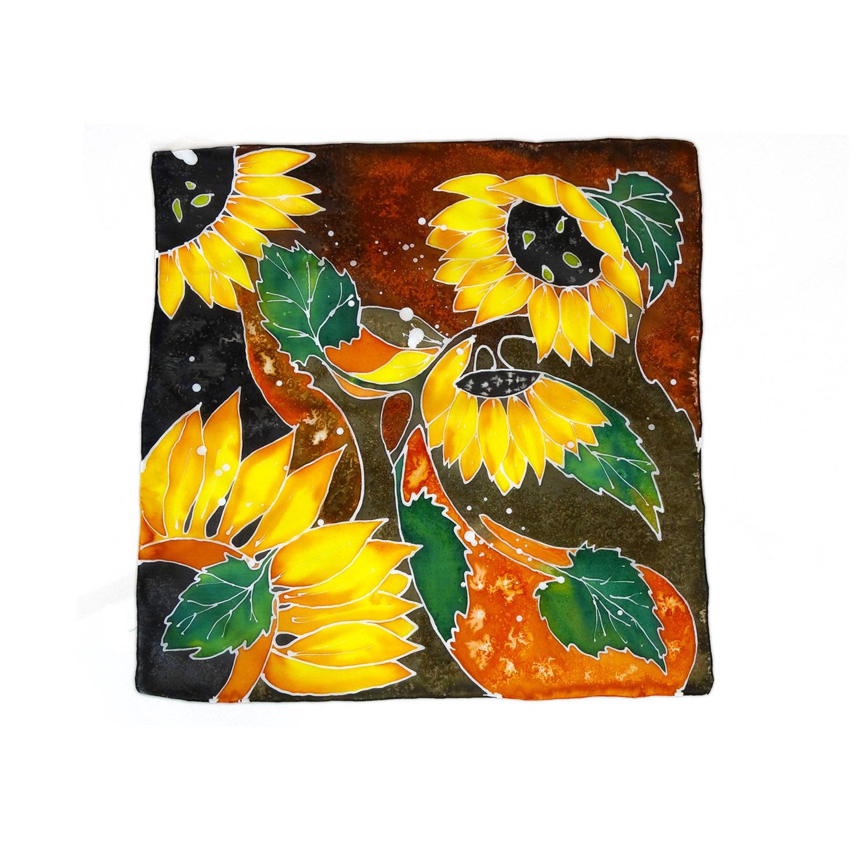Foulard dipinto a mano – Girasoli