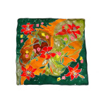 Foulard dipinto a mano – Gigli rossi
