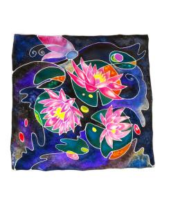 Foulard dipinto a mano – Ninfee