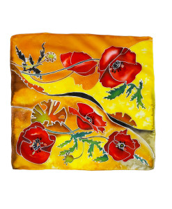 Foulard dipinto a mano – Papaveri