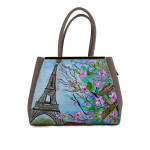 Borsa dipinta a mano – Parigi in Fiore