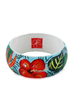 Hand-painted bangle - Paradise