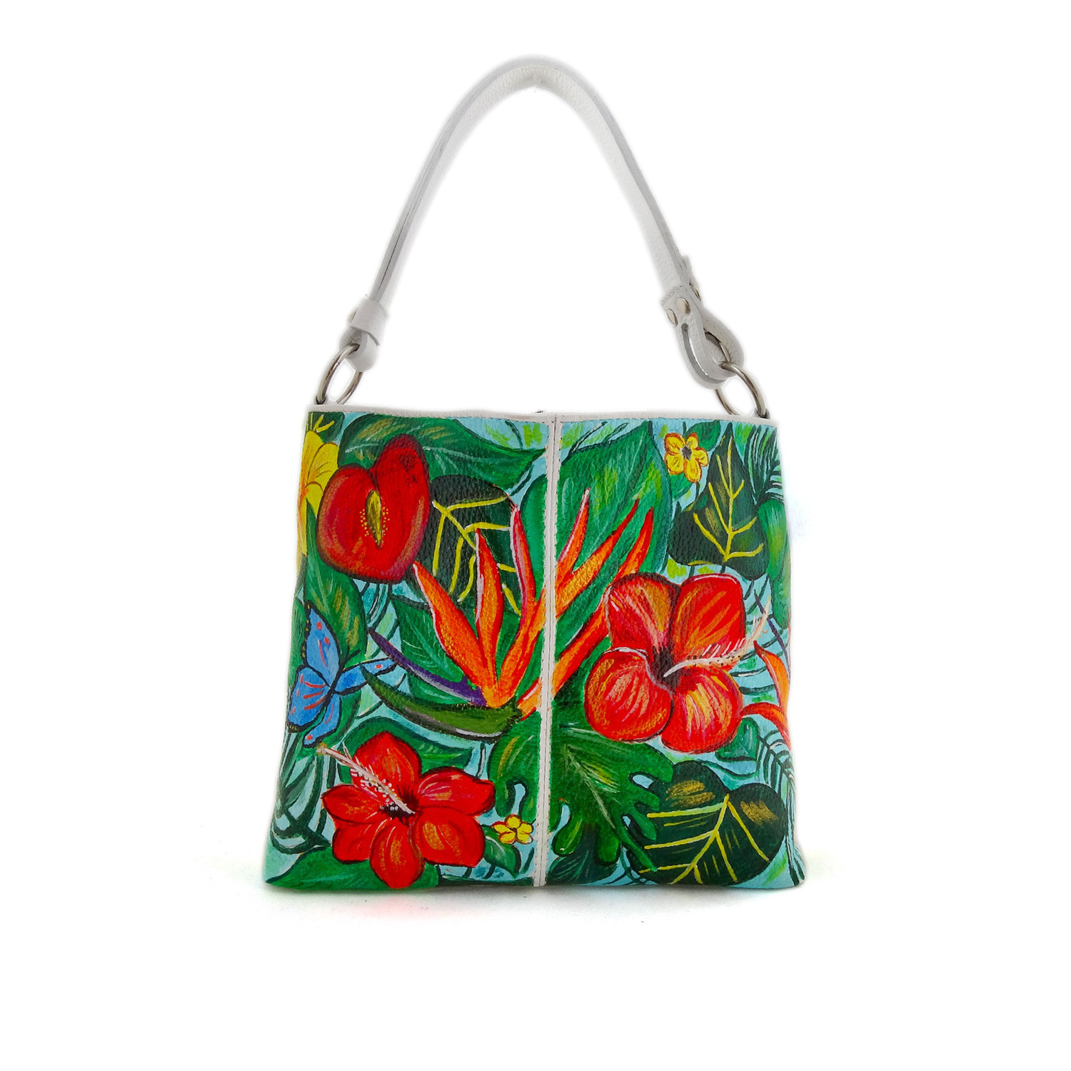 Hand painted bag - Paradise