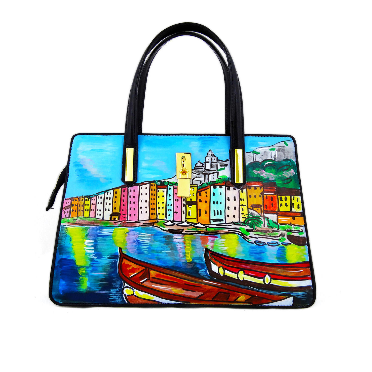 Hand painted bag - Portovenere