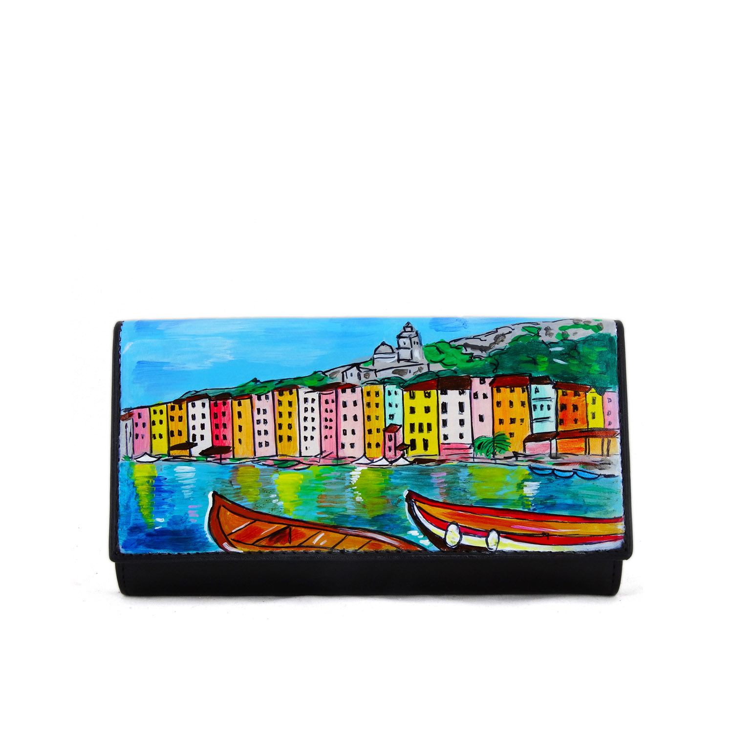 Hand painted wallet - Portovenere