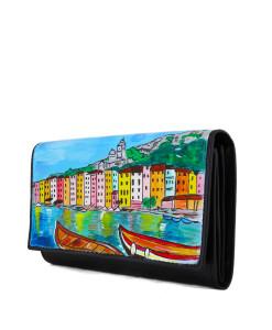 Portafoglio dipinto a mano – Porto Venere