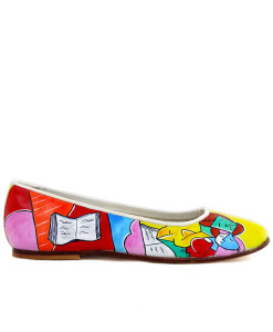 Hand-painted shoes ballet flats - Two Girls Reading by Picasso