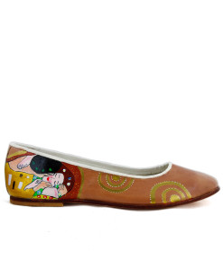Hand-painted ballet flats - The Kiss by Klimt