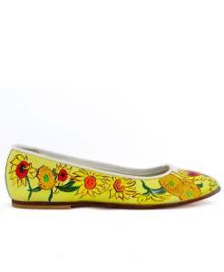 Hand-painted ballet flats - Sunflowers by Van Gogh