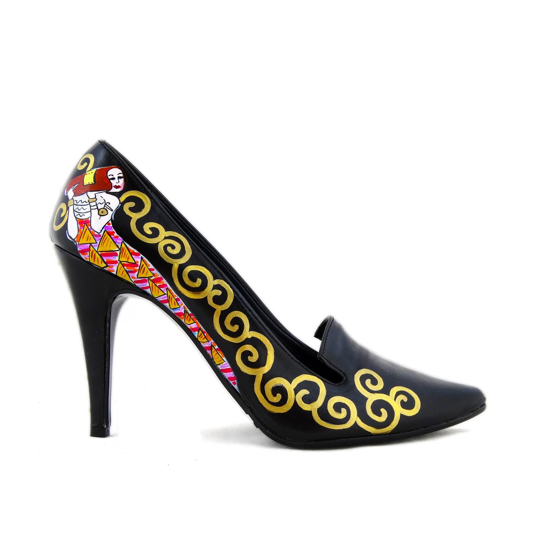 Scarpe décolletés dipinte a mano - L'albero della vita di Klimt