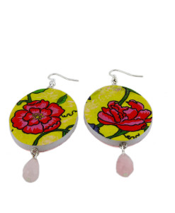 Hand painted earrings - Charms