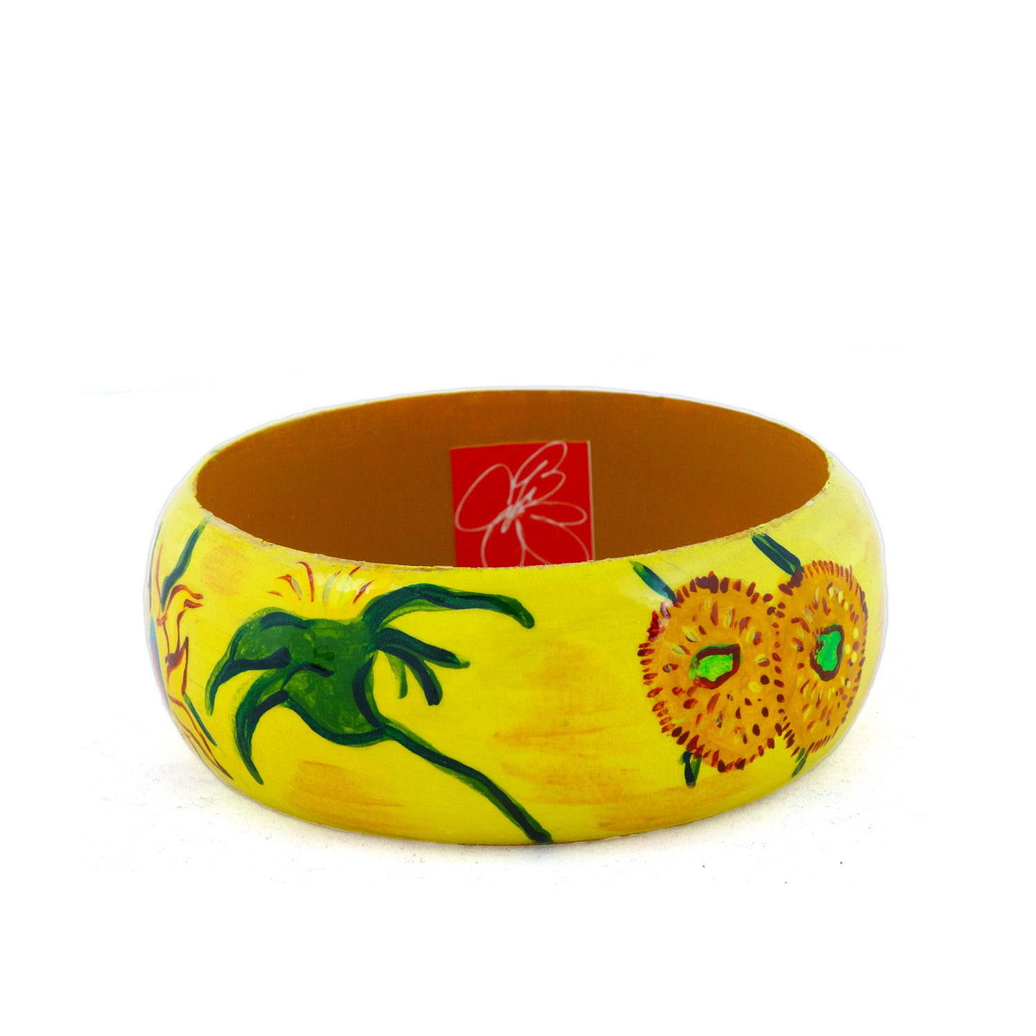 Hand-painted bangle - The Sunflowers by Van Gogh