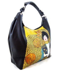 Hand-painted bag - Judith by Klimt