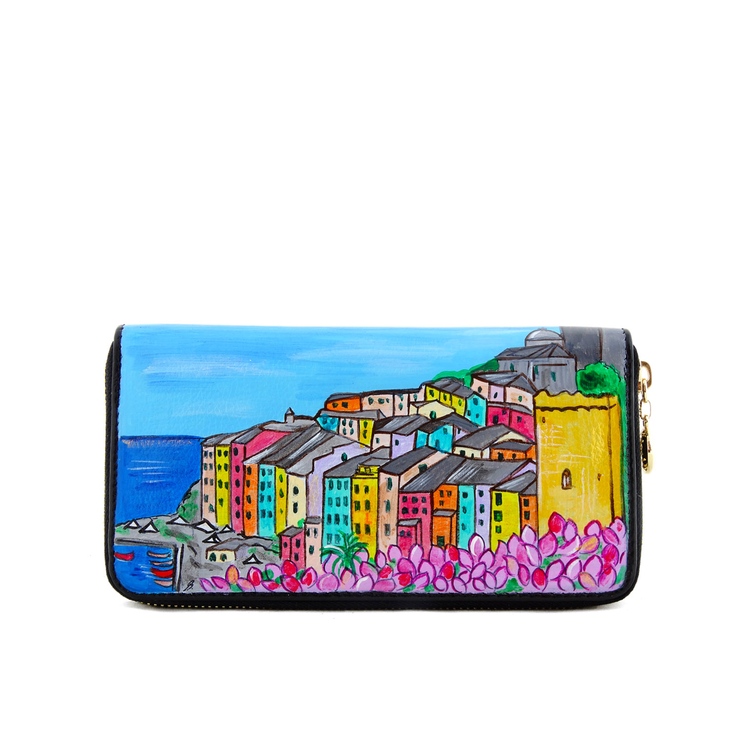 Hand painted wallet - Blossom Portovenere