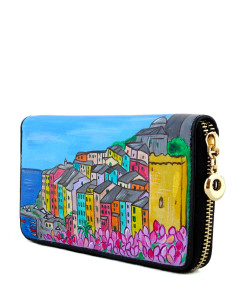 Hand painted wallet - Blossom Portovenere