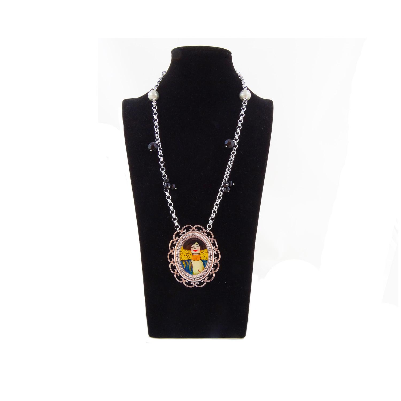 Collana dipinta a mano – Giuditta di Klimt