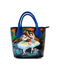 Hand-painted bag - The dancers by Degas