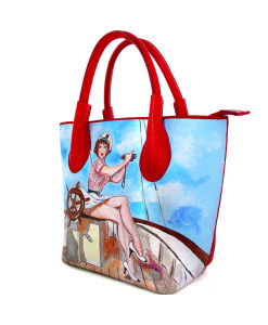 Borsa dipinta a mano – Sailor girl