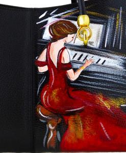 Borsa dipinta a mano – La signora in rosso di Boldini