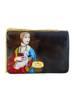 Handpainted bag - Lady with an Ermine by Leonardo