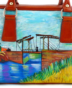 Borsa dipinta a mano – Ponte Langlois di Van Gogh