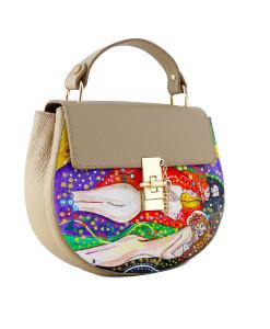 Borsa dipinta a mano – Bisce d'acqua di Klimt