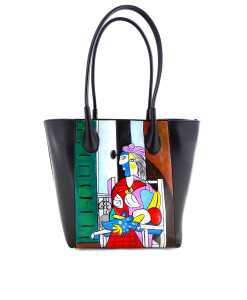 Hand-painted bag - Woman sitting in front of window by Picasso