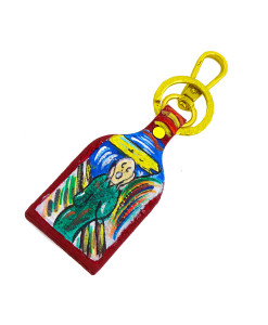 Hand painted keychain - The Scream by Munch