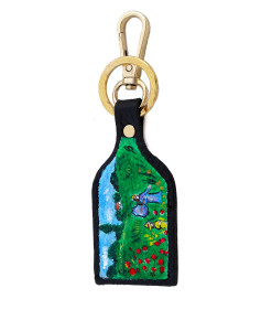 Hand painted keychain - Poppies by Monet