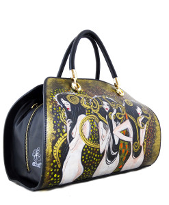 Hand-painted bag - The hostile forces by Klimt